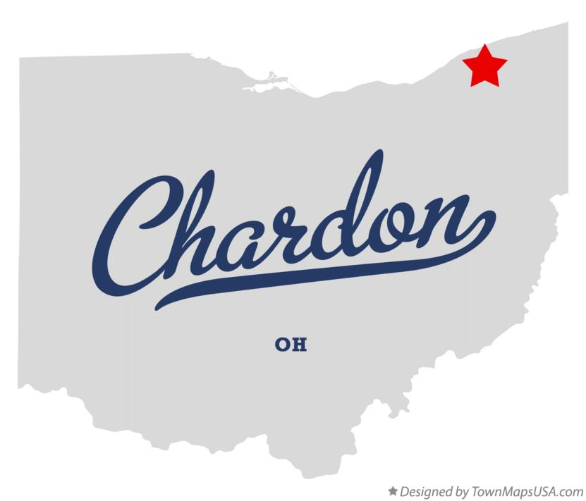 Map Of Chardon Oh Ohio