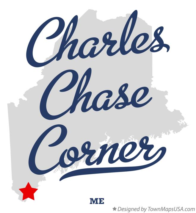 Map of Charles Chase Corner Maine ME