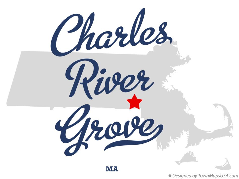Map of Charles River Grove Massachusetts MA
