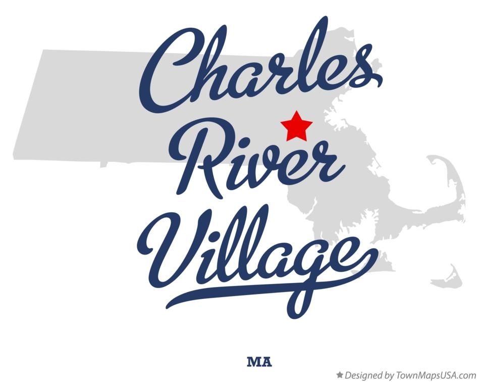 Map of Charles River Village Massachusetts MA