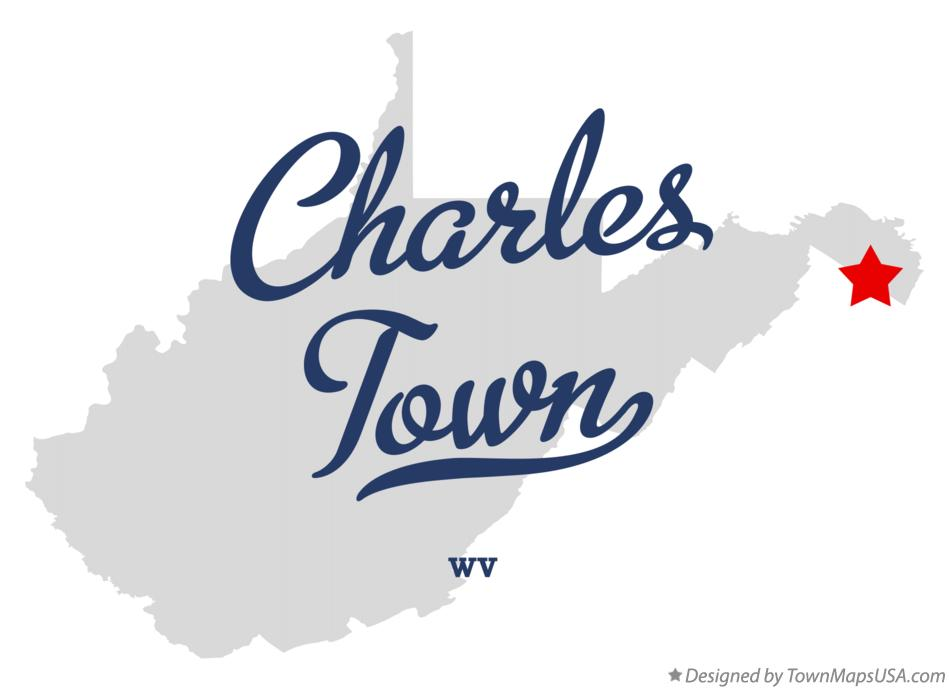 Map of Charles Town West Virginia WV