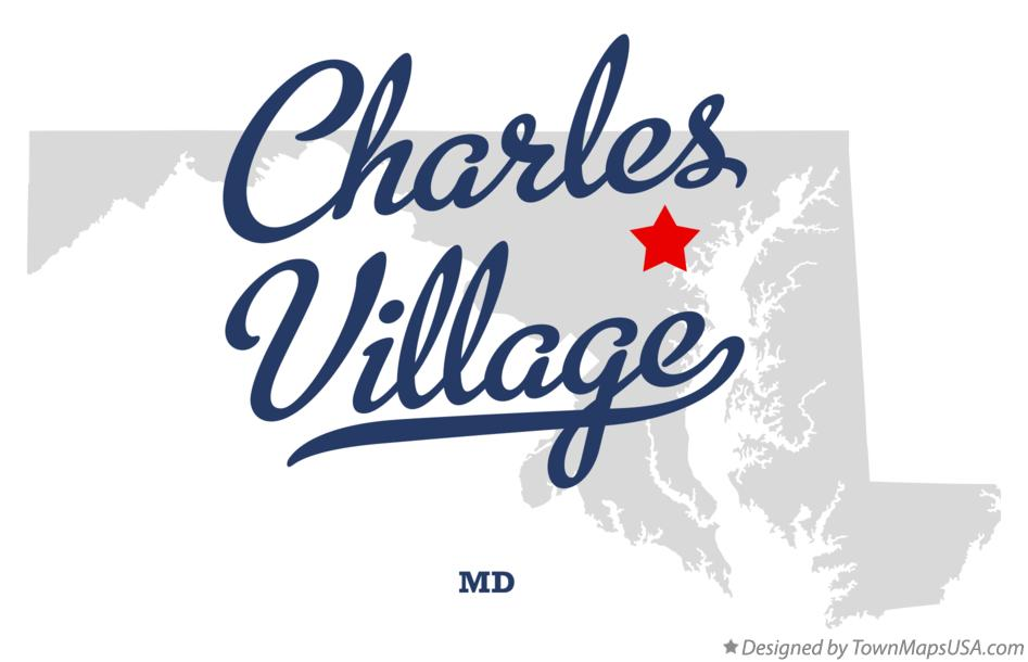 Map of Charles Village Maryland MD