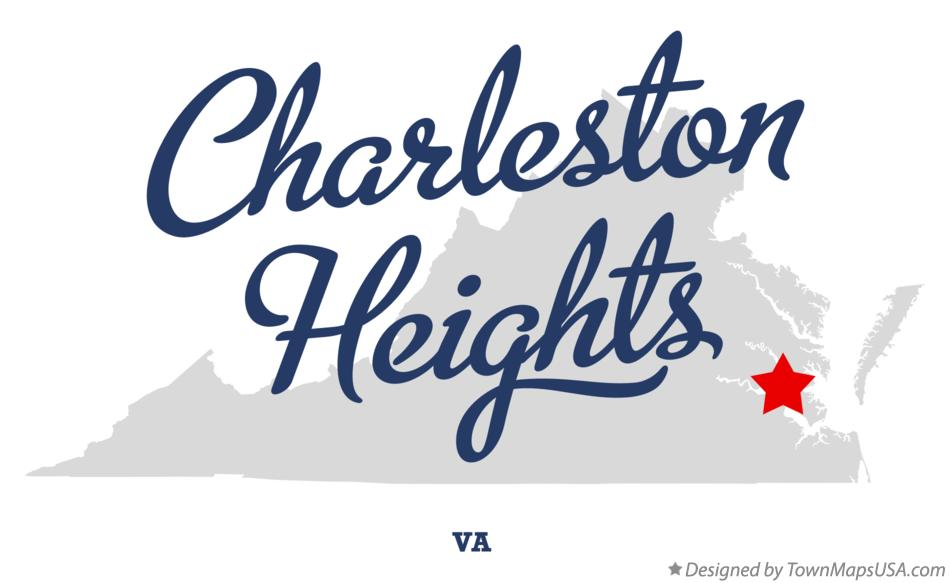 Map of Charleston Heights Virginia VA