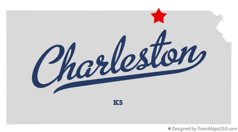 Map of Charleston Kansas KS