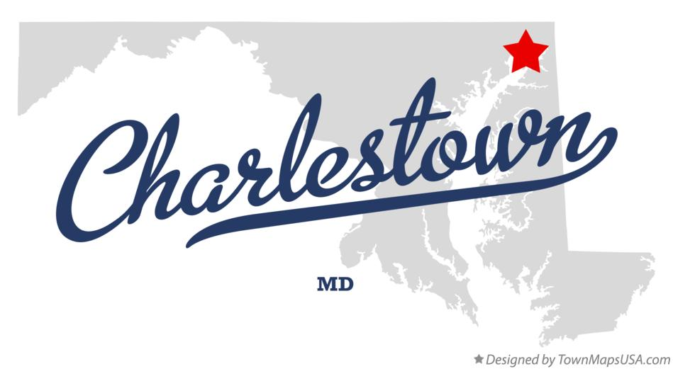 Map of Charlestown Maryland MD