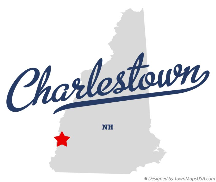 Map of Charlestown NH New Hampshire