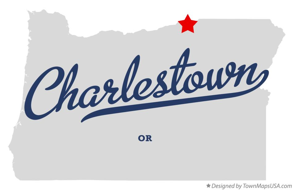 Map of Charlestown Oregon OR