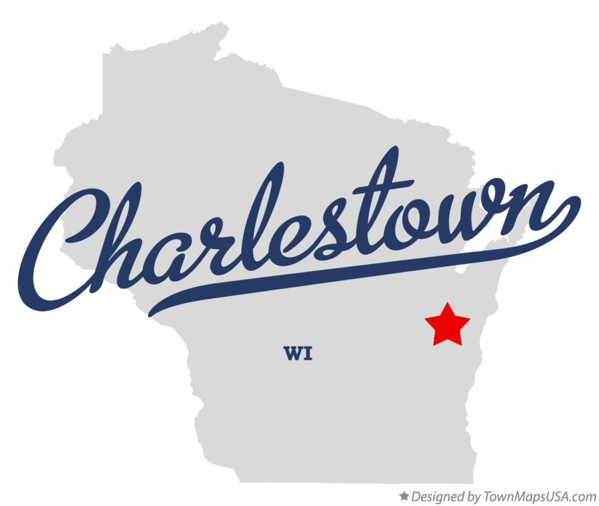 Map of Charlestown Wisconsin WI