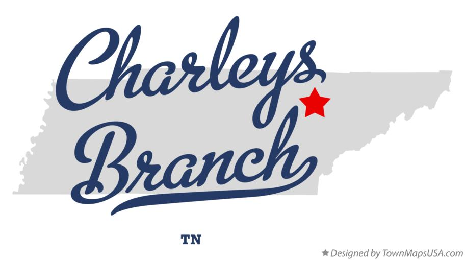 Map of Charleys Branch Tennessee TN