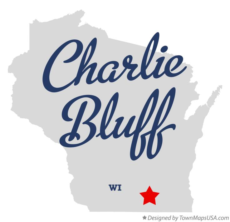 Map of Charlie Bluff Wisconsin WI