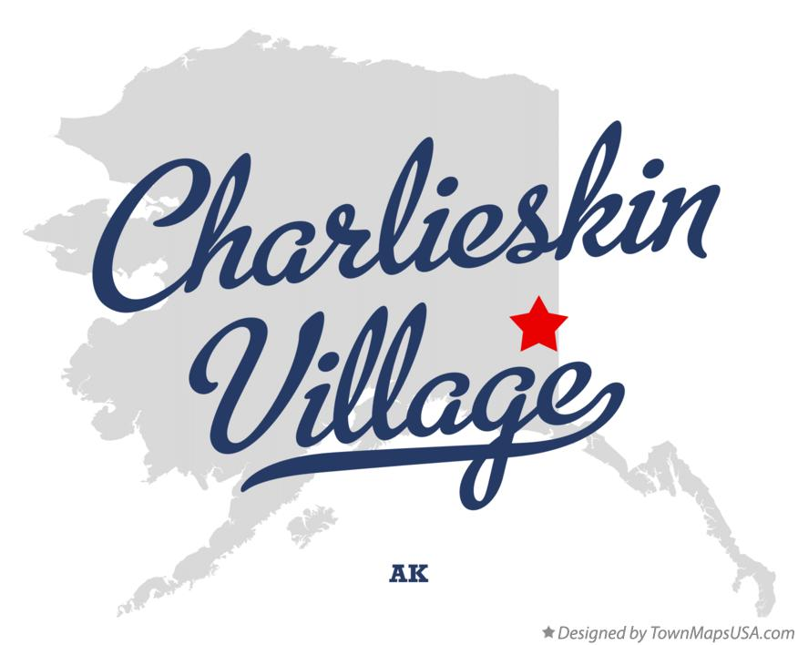 Map of Charlieskin Village Alaska AK