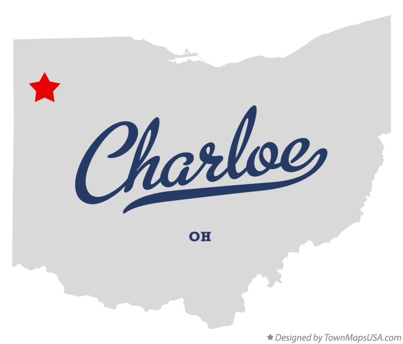 Map of Charloe Ohio OH