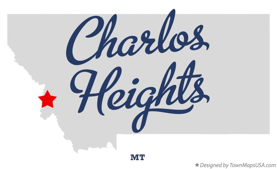 Map of Charlos Heights Montana MT