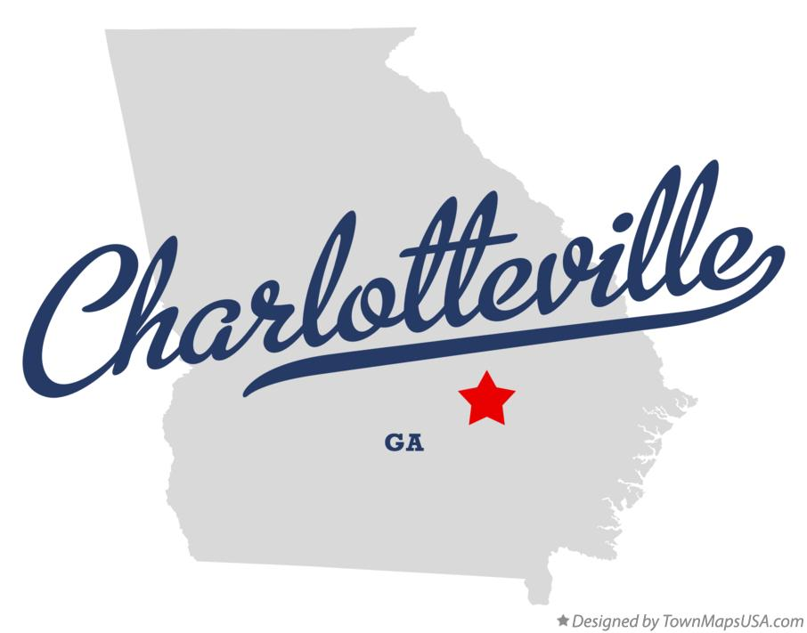 Map of Charlotteville Georgia GA