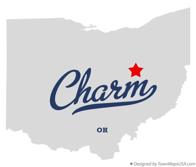 Map of Charm Ohio OH