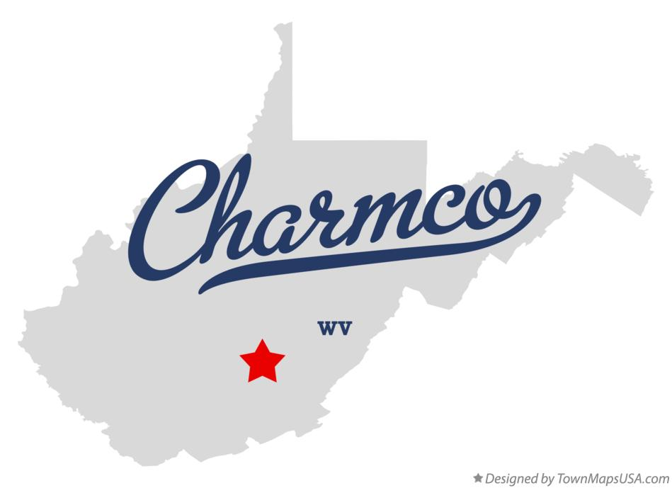 Map of Charmco West Virginia WV