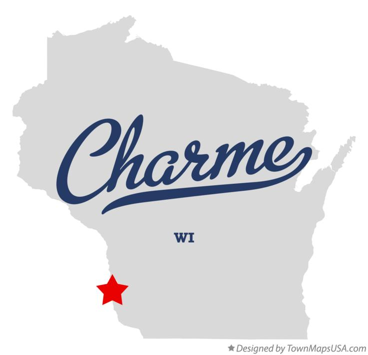 Map of Charme Wisconsin WI