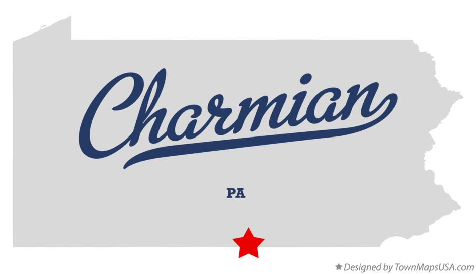Map of Charmian Pennsylvania PA