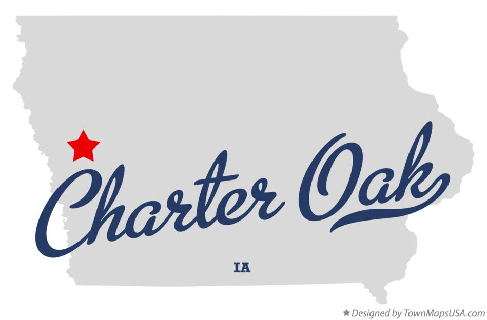 Map of Charter Oak Iowa IA
