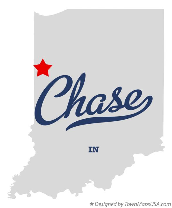 Map of Chase Indiana IN