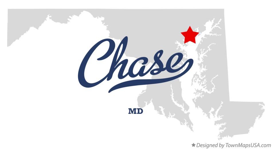 Map of Chase Maryland MD