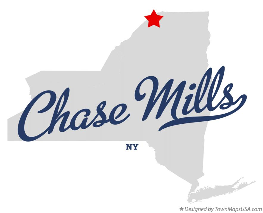 Map of Chase Mills New York NY
