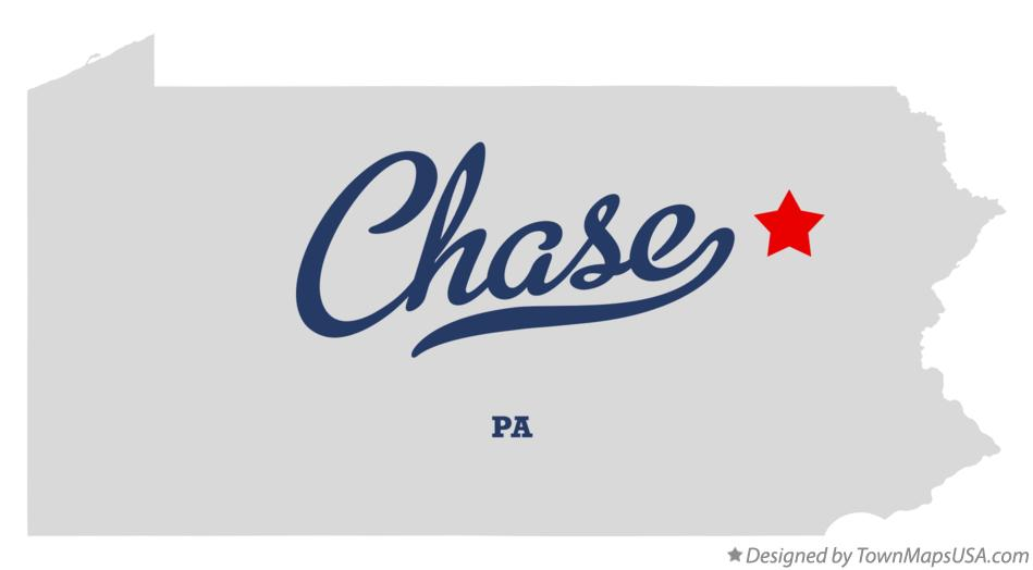 Map of Chase Pennsylvania PA
