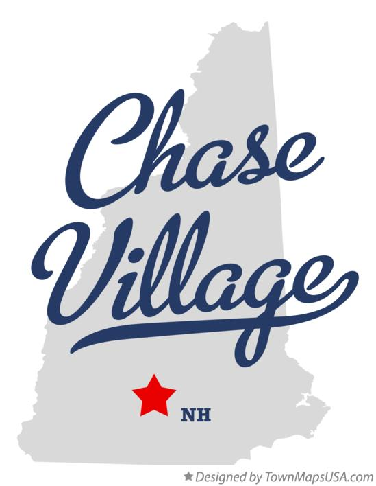 Map of Chase Village New Hampshire NH