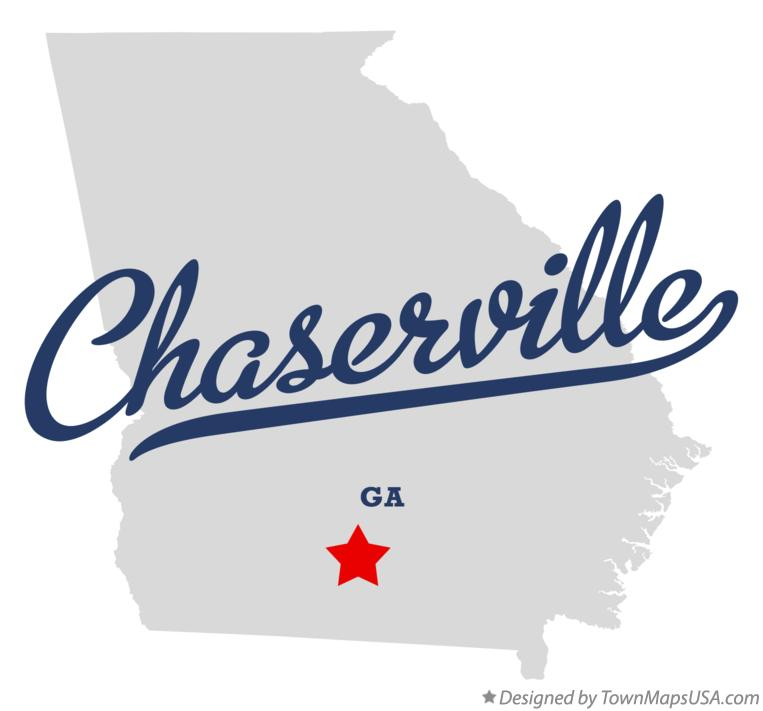 Map of Chaserville Georgia GA
