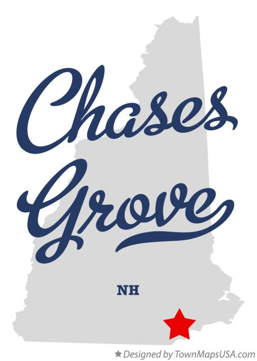 Map of Chases Grove New Hampshire NH
