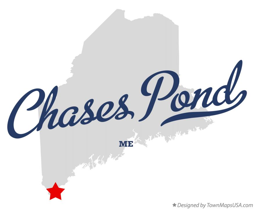 Map of Chases Pond Maine ME