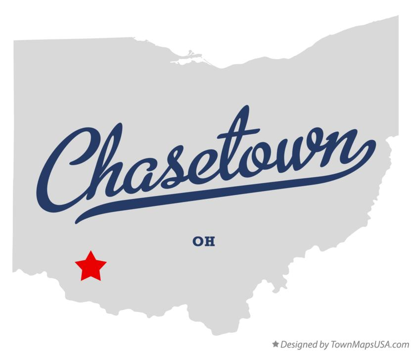 Map of Chasetown Ohio OH