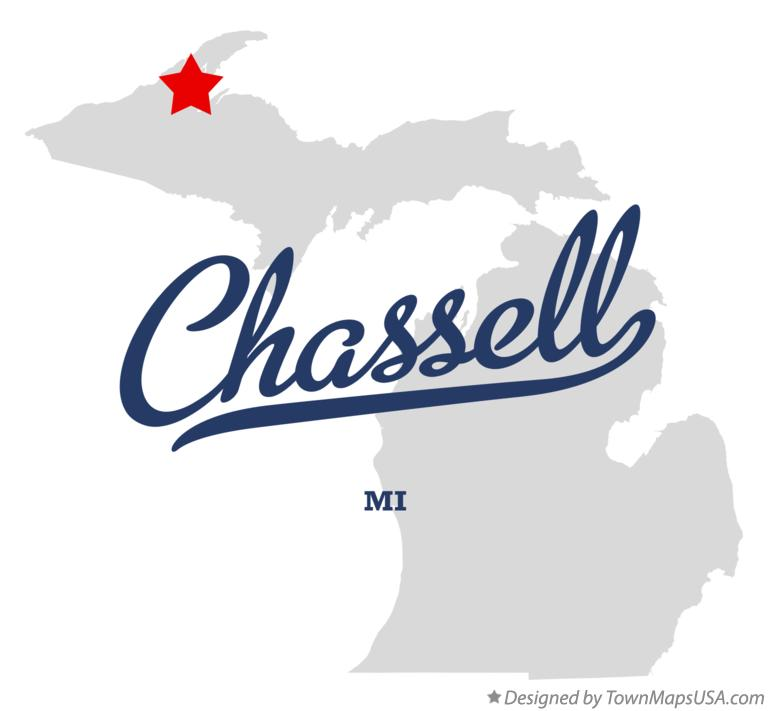 Map of Chassell Michigan MI