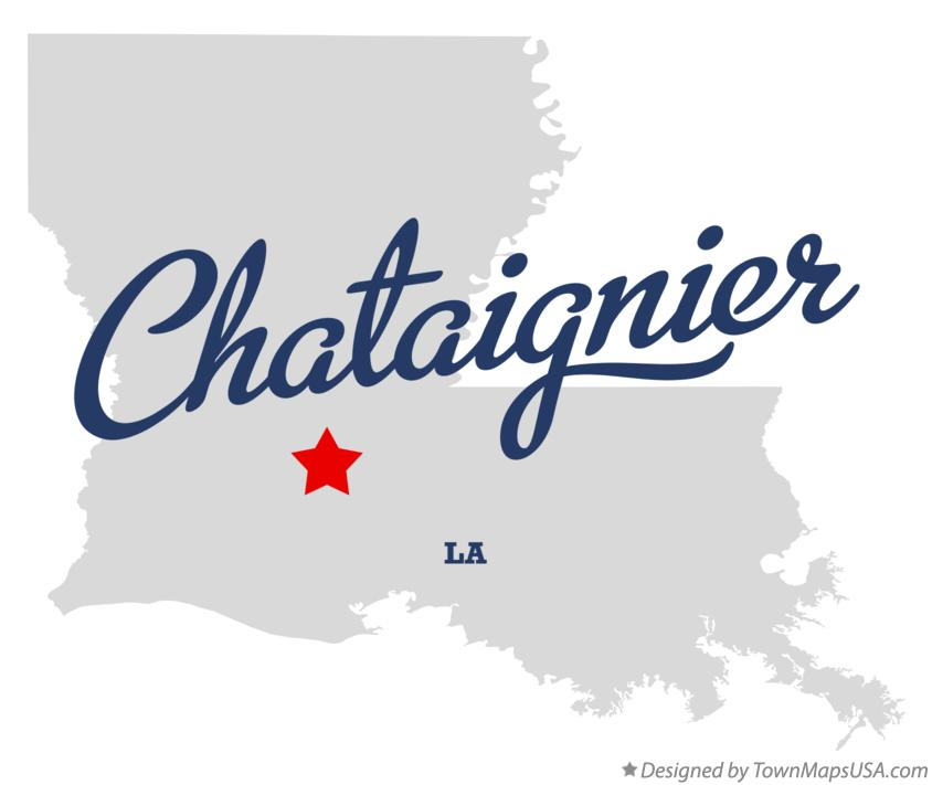 Map of Chataignier Louisiana LA