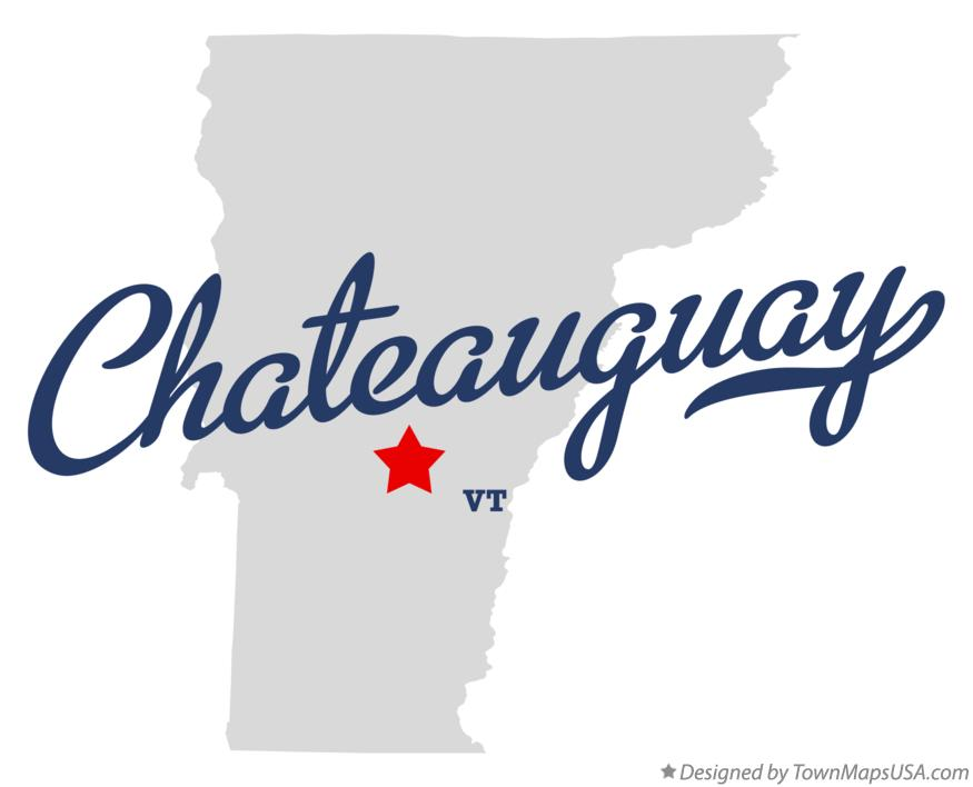 Map of Chateauguay Vermont VT