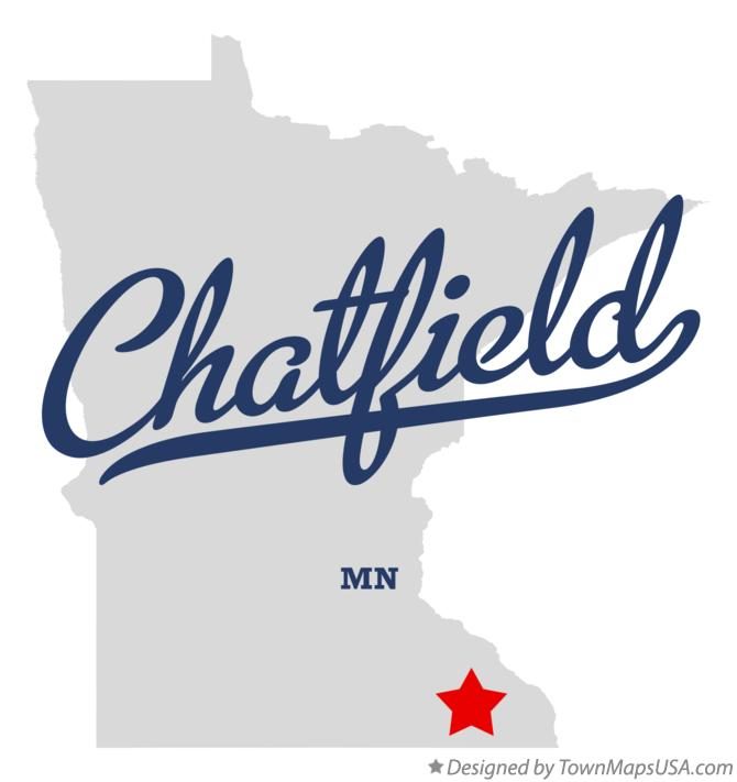Map of Chatfield Minnesota MN