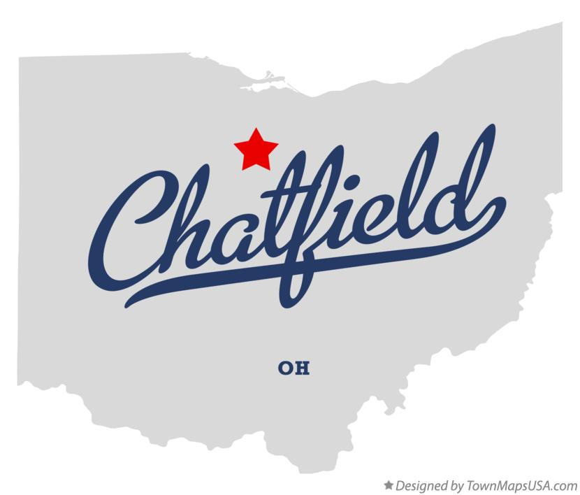 Map of Chatfield Ohio OH