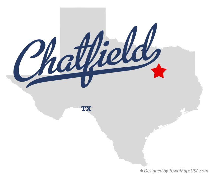 Map of Chatfield Texas TX