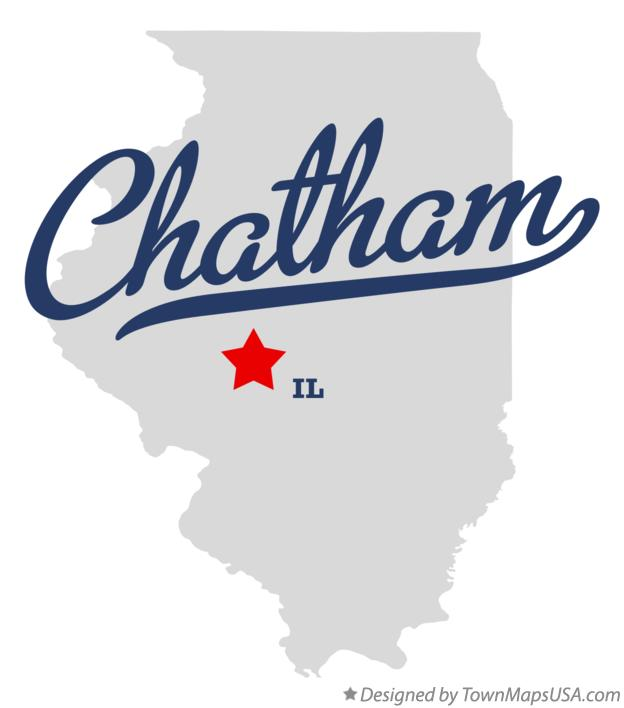 Map of Chatham Illinois IL