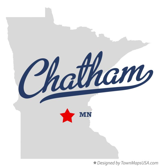 Map of Chatham Minnesota MN