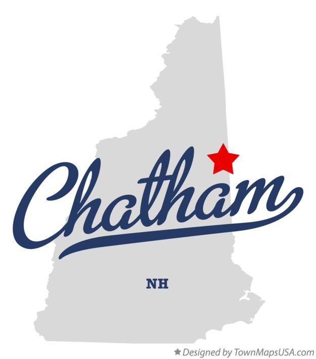 Map of Chatham New Hampshire NH
