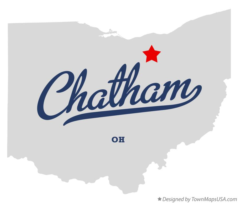Map of Chatham Ohio OH