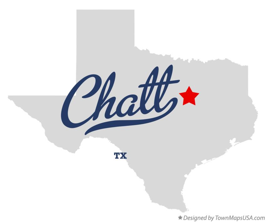 Map of Chatt Texas TX