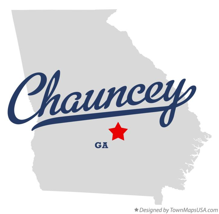 Map of Chauncey Georgia GA