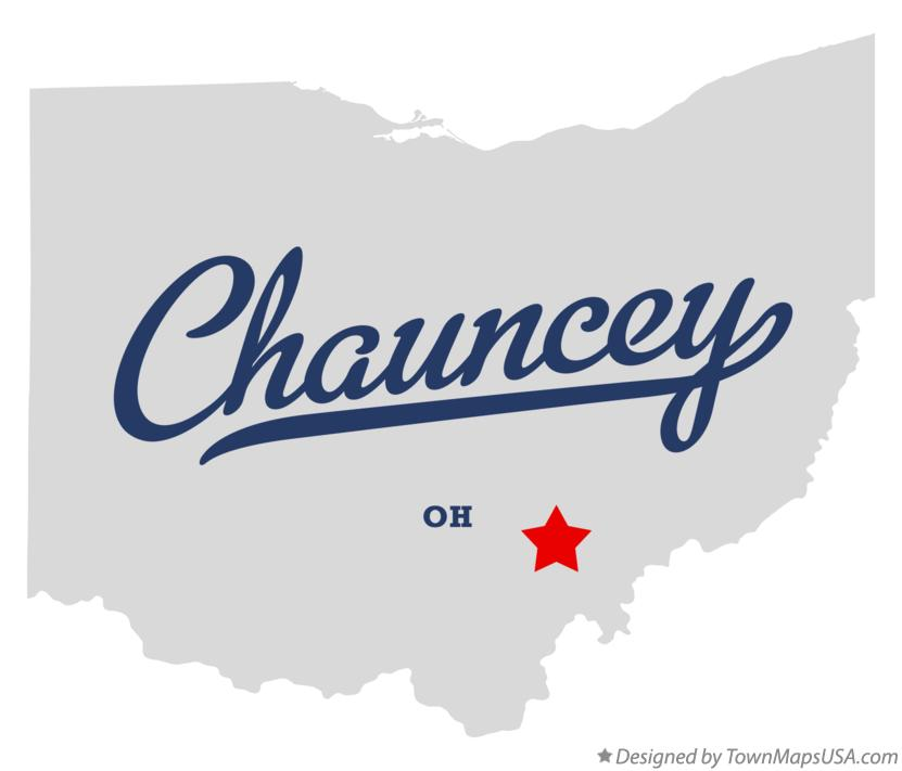 Map of Chauncey Ohio OH