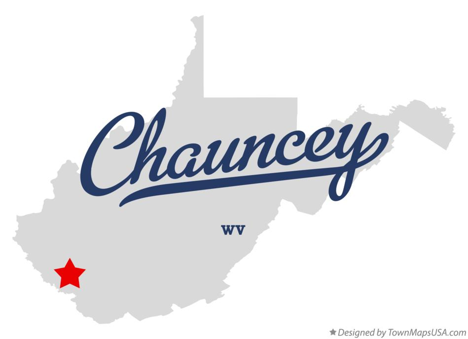 Map of Chauncey West Virginia WV