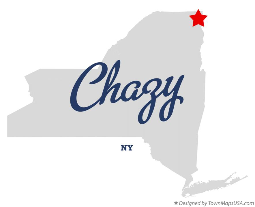 Map of Chazy New York NY