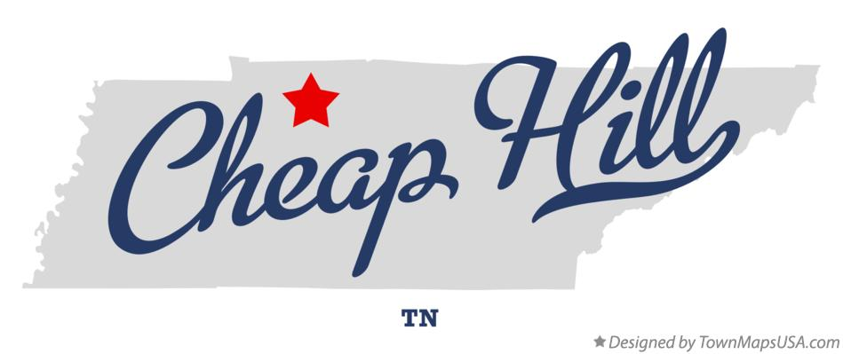 Map of Cheap Hill Tennessee TN