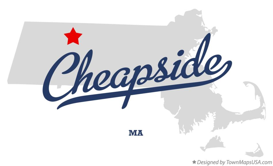 Map of Cheapside Massachusetts MA