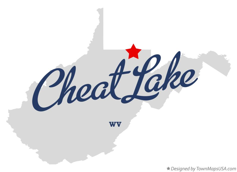 Map of Cheat Lake West Virginia WV